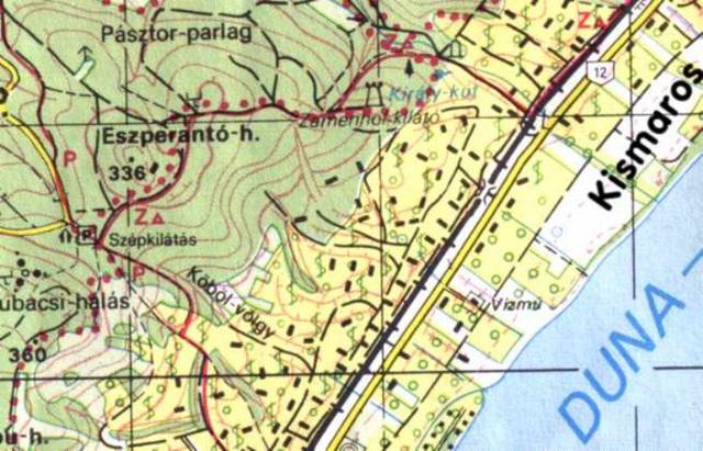 Esperanto monto, Zamenhof elvidejo sur la mapo