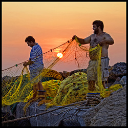 busy fishermen