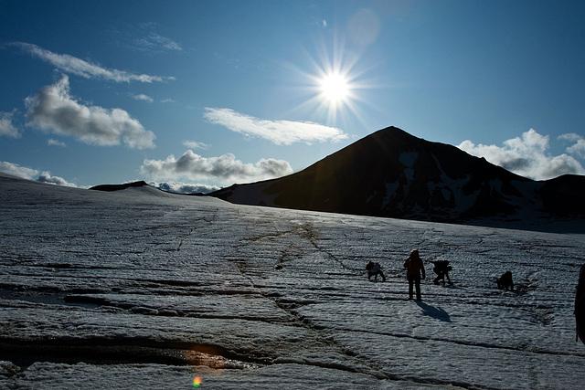 Glacier sun