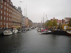 Rue d'eau au centre-ville /  Downtown river road.    Copenhague  - 26-10-2008