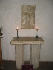 Altaro en kastelo de Turaida.