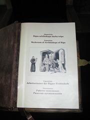 Libro de episkopo en kastelo de Turaida.