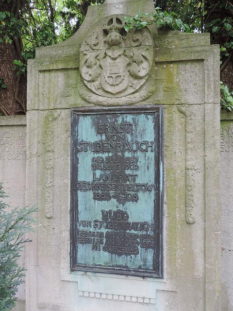 Grabstein Ernst von Stubenrauch