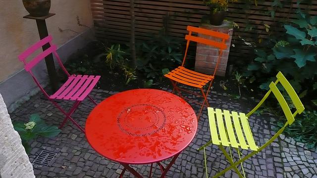 Farbige Sitzgruppe