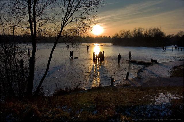 Lac du Héron - Villeneuve d'Ascq - Gelé Hiver 2009