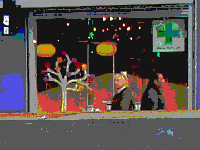 La zone Matas / Matas corner  -  Copenhague.  20 octobre 2008  - Postérisée avec couleurs ravivées