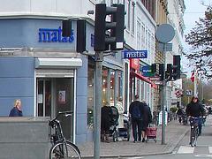 La zone Matas / Matas corner  -  Copenhague.  20 octobre 2008