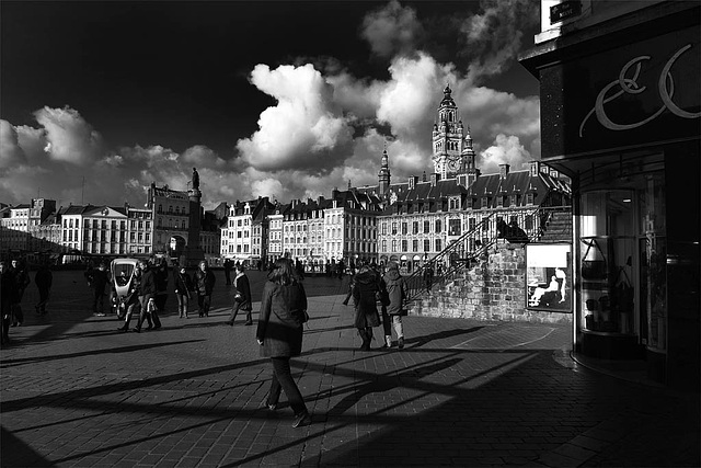 Lille Grand Place : Avant l'orage...