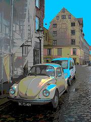 VW -  BC73-409.  Copenhague.  26-10-2008- Traitement de postérisation photofiltrée