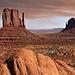 De berømte plateauer i Monument Valley, Utah.