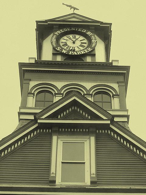 Palais de justice /  Courthouse -  Newport, Vermont.  USA / États-Unis.  23 mai 2009-  Vintage.