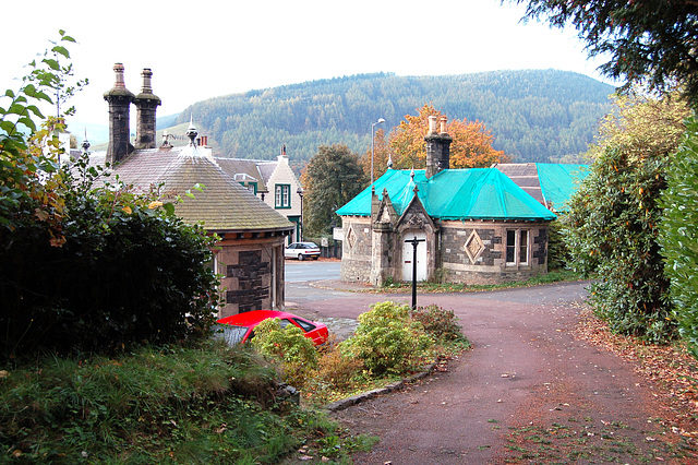 Decaying Victorian lodge house by FT Pilkington, Walkerburn, Borders, Scotland