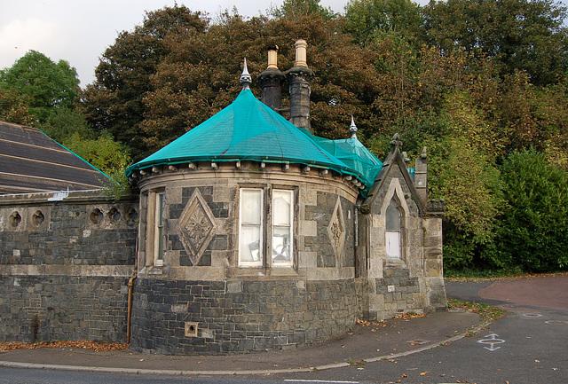 Decaying Victorian lodge house by FT Pilkington, Walkerburn, Borders, Scotland