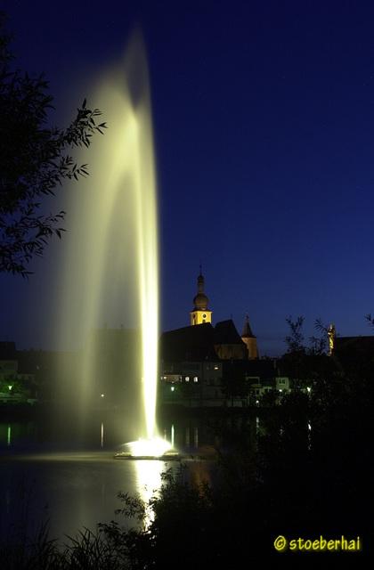 Fountain on river Main in Kitzingen