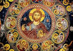 Le geste de bénédiction du Christ Pantocrator