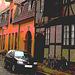 Façade colorée en perspective /  Colourful façade in perspective  -  Copenhague.   26 -10-2008 - Version postérisée