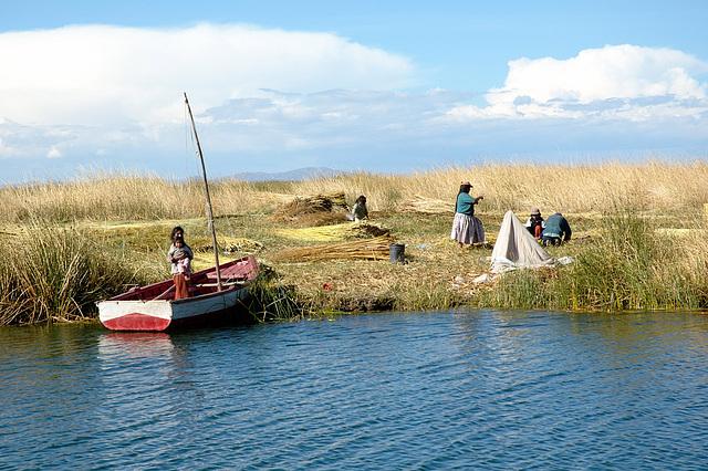 Iles Flottantes sur le Lac Titicaca, Pérou