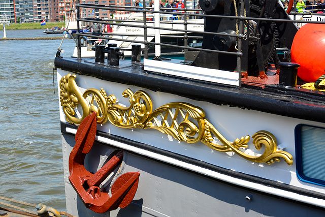 Dordt in Stoom 2014 – The bow of the Kapitein Anna