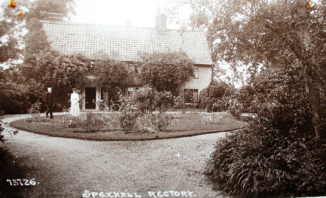 Spexhall Rectory Suffolk, Eastern Facade. Historic View (2)