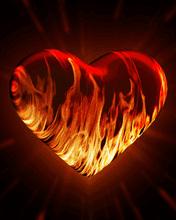 Coeur enflamme