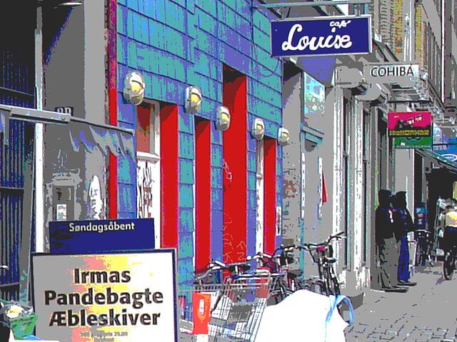 La perspective Louise /  Louise store area -  Copenhague, Danemark.  Octobre 2008 - Postérisation