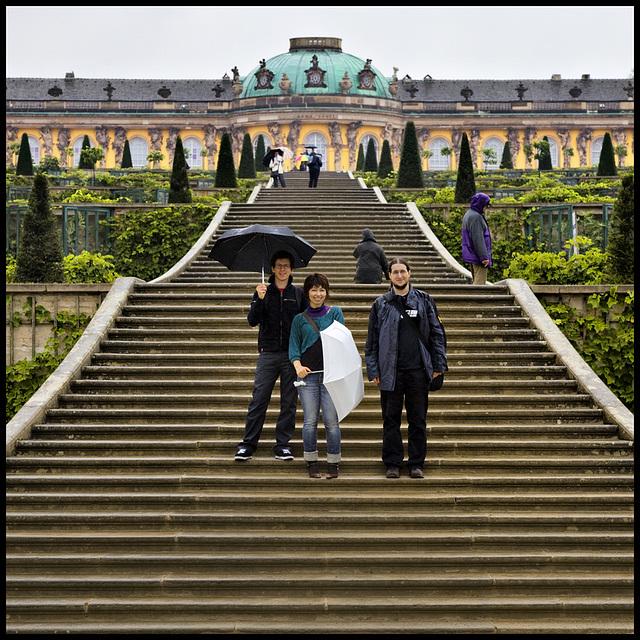 a rainy day in Sanssouci