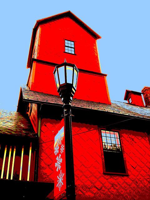 Le moulin Chittenden / Chittenden mills -  Jericho. Vermont . USA.  23-05-2009-  Version postérisée avec ciel bleu ajouté .