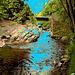 Le moulin Chittenden / Chittenden mills -  Jericho. Vermont . USA.  23-05-2009 - Version postérisé avec touche de bleu  photofiltré.