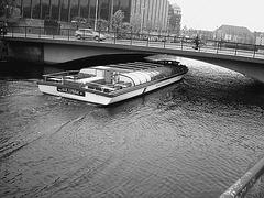 Bateau-mouche danois / Ole lukoje boat.  Copenhagen. 26-10-2008-  N & B
