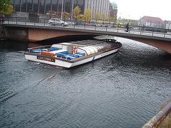 Bateau-mouche danois / Ole lukoje boat.  Copenhagen. 26-10-2008