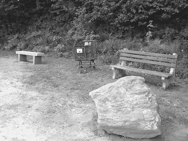 Johnson /   Vermont .  États-Unis /   USA.  23 mai 2009- Morrisville Rotary club scenery. B & W
