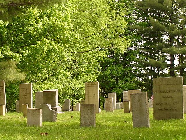 Cimetière de Johnson / Johnson's cemetery.  Vermont.  USA.  23 mai 2009