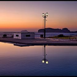 evening pool mood