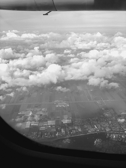 Vol / flight - Bruxelles / Brussels  - Amsterdam.  19 juillet 2008  -  N & B