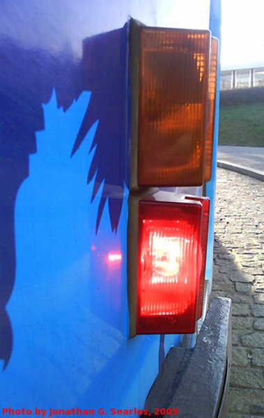 Tatra T3 Rear Parking Light, Prague, CZ, 2009