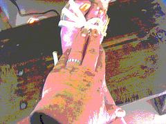 Mon amie bien-aimée Krisontème avec permission  /    Main et pied érotiques !   - Postérisation