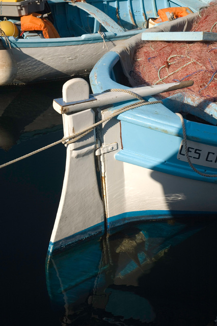 reflection of the rudder!