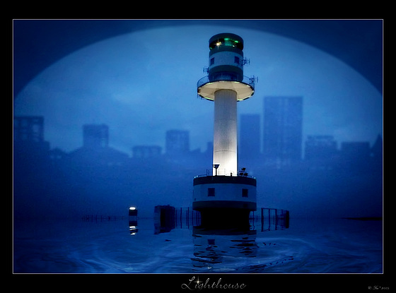 lighthouse by night*