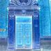 La porte  Indleveting af Brevpost door  /  Copenhague .  26-10-2008 - Effet de négatif