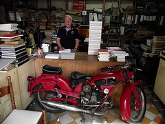 Bookbinder and his bike