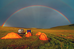 Full rainbow close to our camping place