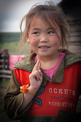 Girl at her herders home