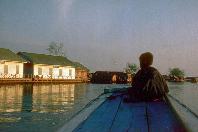 Evening mood during a river tour