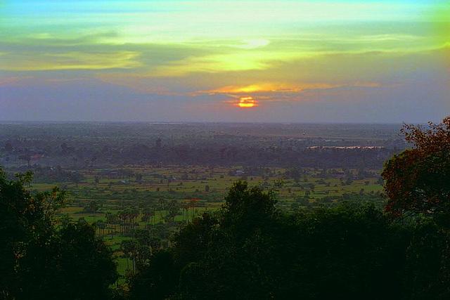 Sunset view from Phnom Bakheng