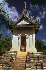 Warning landmark and monument for Cambodians bad memory