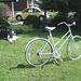 Vélo de fantôme avec marmite et VW /   VW with big pot and ghost bike -  Dans ma ville  /  Hometown.  17 juillet 2009
