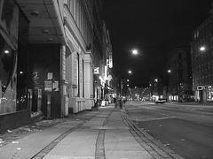 Copenhague /  Brouillard nocturne fakta /   Fakta night fog. 19-10-2008  -  N & B
