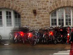 Vélos danois près de la gare / Annette's polser danish bikes. Copenhagen. 26-10-2008
