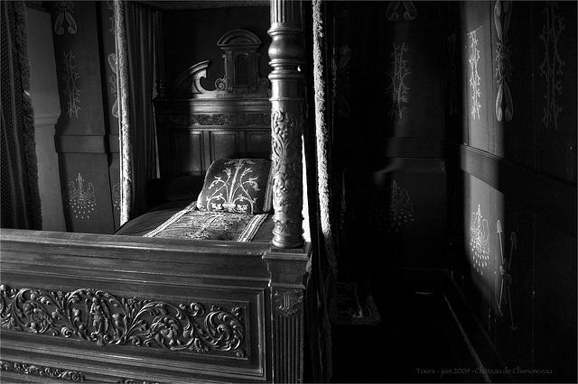 la chambre de la reine noire... Château de Chenonceau