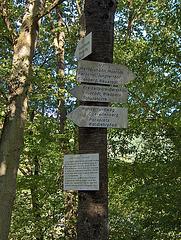 Disbranĉejo al Ehrenstein – tradiciaj vojmontriloj